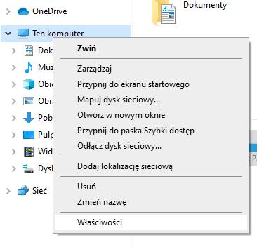 właściwości komputera